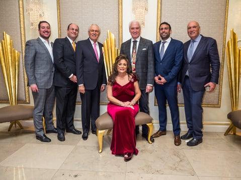 Jonny, Andrew, Paul, Alex, Eric, Steven and seated is Mina Peykar. Nourison