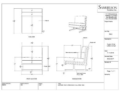 CAD custom furniture design