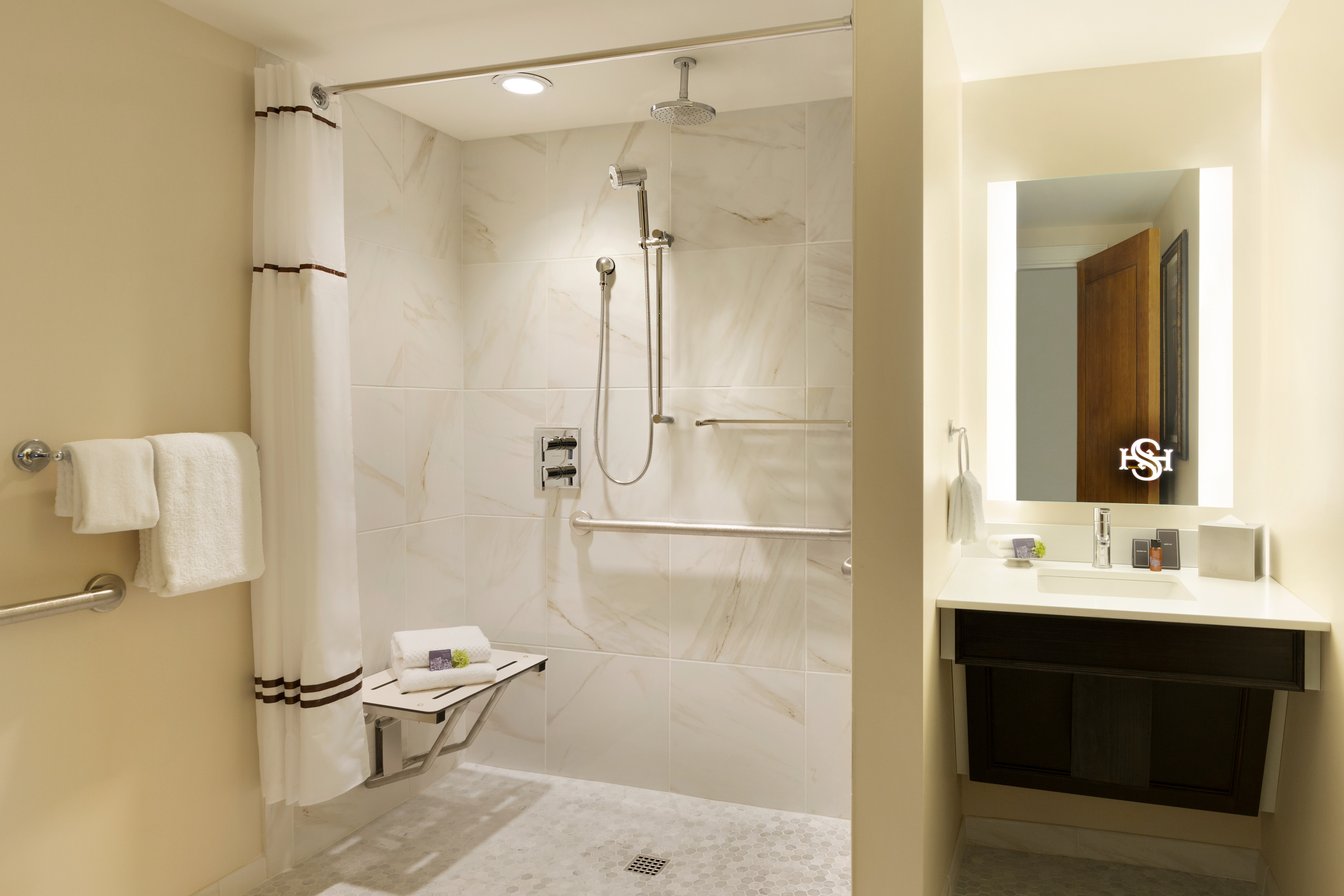 Hotel Saranac Renovated Bathroom Design